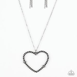 Silver necklace/earrings paparazzi